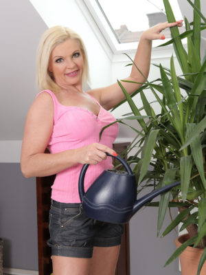 Phat Breasted  Blond Carolina Carla Waters Her Flowers and Works