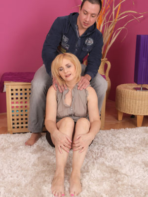 Huge-chested  Blond Haired Jennyfer B Gets Every Inch of the Woman Assets Pleasured by Her Man