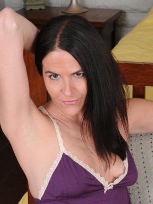 Hot  Brown Haired Maggie K Flaunts Her Soles After Which Gets Bare Regarding the Cushions