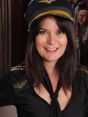 Captain Sherry Lee is Getting Ready to Takeoff Her Clothing