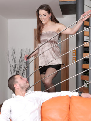 Valentina Ross Works Downstairs and Gets Fucked