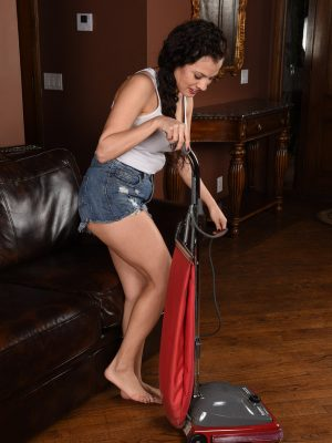 Alluring Alejandra Cleans Up
